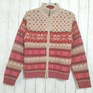 Vintage Eddie Bauer Sweater Lambswool Fair Isle M